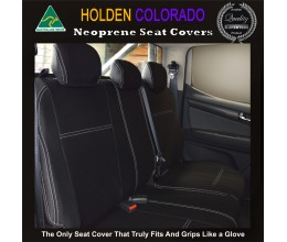 Holden Colorado Isuzu D-max (D max) MU-X (MU X), 2017 model available, REAR Seat Covers Premium  Neoprene (Automotive-grade) 100% Waterproof