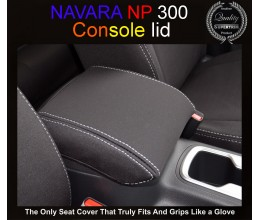 Nissan Navara CONSOLE LID COVER - BLACK Waterproof Neoprene (Wetsuit), UV Treated