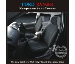 Ford Ranger FRONT Seat Covers tailor-made full-back with map pockets, 2017 model available, HEAVY DUTY Neoprene  100% Waterproof