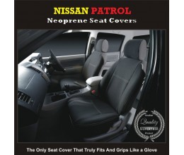 NISSAN PATROL WATERPROOF, UV TREATED, WETSUIT FRONT PAIR OF CAR SEAT COVERS