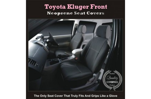 Toyota Kluger Series 2007-Now, 2017 model available, Front Seat Covers (SUV) Premium Neoprene (Automotive-Grade) 100% Waterproof