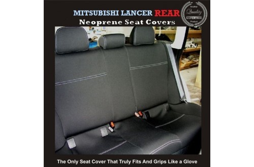 MITSUBISHI LANCER REAR NEOPRENE WATERPROOF UV TREATED WETSUIT CAR SEAT COVER