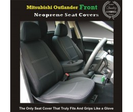 TOP MITSUBISHI OUTLANDER FRONT PAIR OF WATERPROOF CAR SEAT COVERS WITH SEPARATE HEADREST COVERS