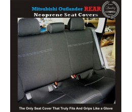 MITSUBISHI OUTLANDER REAR NEOPRENE WATERPROOF UV TREATED WETSUIT CAR SEAT COVER