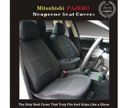 TOP MITSUBISHI PAJERO FRONT PAIR OF WATERPROOF CAR SEAT COVERS WITH SEPARATE HEADREST COVERS