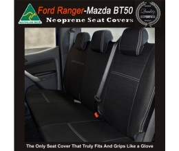 Ford Ranger REAR Seat Covers tailor-made (with armrest access), 2017 model available, HEAVY DUTY Neoprene - 100% Waterproof