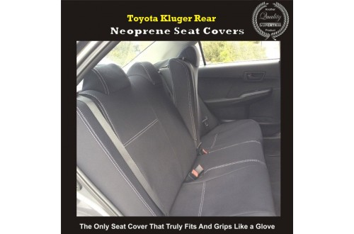 Toyota Kluger Series 2007-Now, 2017 model available, Rear Seat Covers (SUV) Premium Neoprene (Automotive-Grade) 100% Waterproof