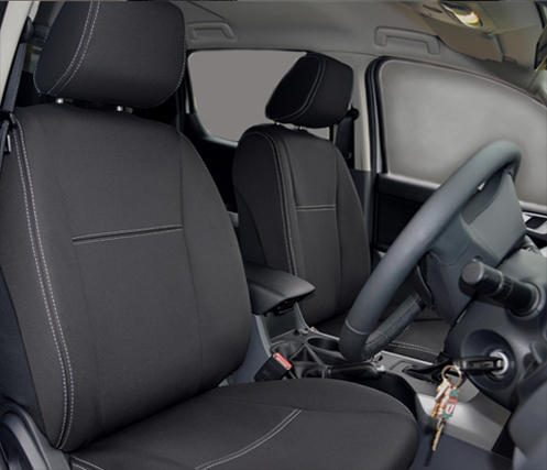 Ford Ranger Pu 2019 Front Seat Covers Snug Fit Premium