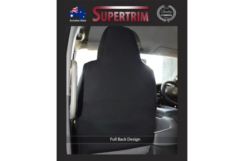 Seat Covers FULL-BACK 2 BUCKET FRONT PAIR Snug Fit for Toyota Hiace (Mar 2005 - Now) H200 MK.5 (Commuter Bus) Premium Neoprene (Automotive-Grade) 100% Waterproof
