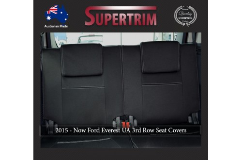 Ford Everest UA (Oct 2015 - Now) 3RD ROW Full-Back Seat Covers, Snug Fit, Premium  Neoprene (Automotive-grade) 100% Waterproof