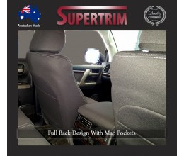 Seat Covers FULL-BACK + MAP POCKET FRONT PAIR Snug Fit for (Nov07 - Now) Landcruiser J200 (200 Series) - GX & GXL, Snug Fit, Premium Neoprene (Automotive-Grade) 100% Waterproof