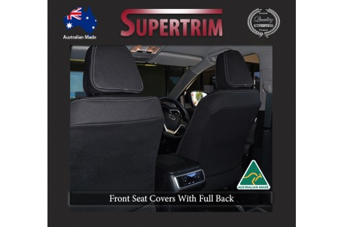 Mitsubishi Pajero Sport Neoprene Custom Car Seat Covers FRONT full-Length