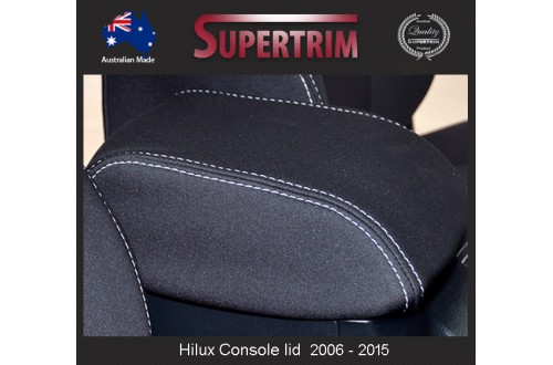 CONSOLE Lid Cover Snug Fit for Toyota Hilux MK.7 April 2005 - July 2011, Snug Fit, Premium Neoprene (Automotive-Grade) 100% Waterproof