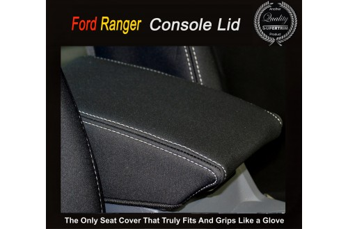 Ford Ranger CONSOLE LID COVER BLACK Waterproof Neoprene (Wetsuit), UV Treated