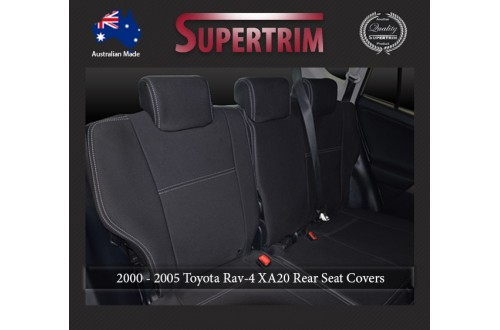 Seat Covers 2nd Row Snug Fit For Toyota Rav4 XA20 (2000 - 2005), Premium Neoprene (Automotive-Grade) 100% Waterproof