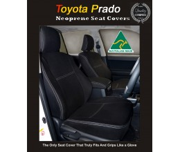 Seat Covers $189 FRONT PAIR  suitable for Toyota Prado 90 / 120 / 150 series Snug fit (2017 model available) Charcoal black, Waterproof Premium quality Neoprene (Wetsuit), UV Treated