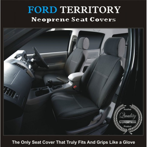 FORD TERRITORY SX SY SZ FRONT WATERPROOF WETSUIT CAR SEAT COVERS PAIR
