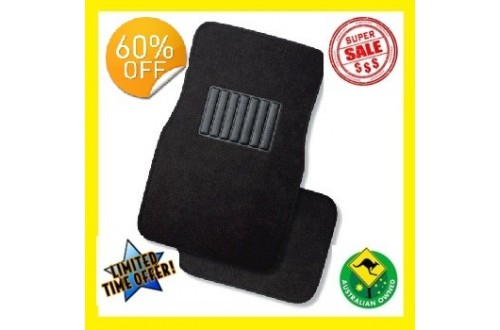 Set of 4 Brand New Hard Wearing Universal PVC Backed Carpet Floor Mats!