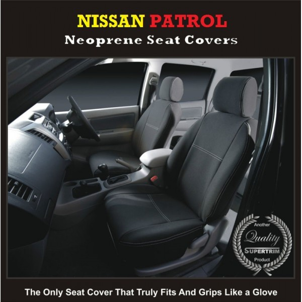 NISSAN PATROL WATERPROOF UV TREATED WETSUIT FRONT PAIR OF CAR SEAT COVERS