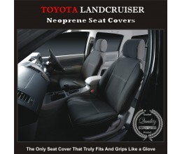 Seat Covers FRONT suitable for Toyota Landcruiser Series - 70 -/- 80, Premium Neoprene (Automotive-Grade) 100% Waterproof