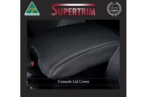 Console Lid Cover Fit Toyota Prado 150 Series (Nov09 - Now),  Charcoal black, Waterproof Premium quality Neoprene (Wetsuit), UV Treated
