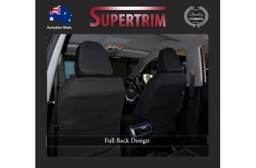 Seat Covers Front pair With Full-back Snug Fit For (Oct 2015 - Now) Toyota Fortuner (AN160), Premium Neoprene (Automotive-Grade) 100% Waterproof