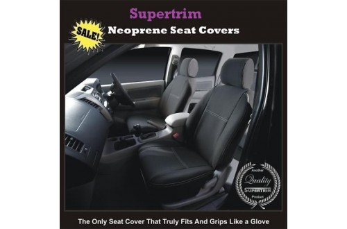 HYUNDAI I40 SEAT COVERS - FRONT PAIR, BLACK Waterproof Neoprene (Wetsuit), UV Treated
