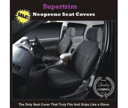 NISSAN DUALIS +2 SEAT COVERS - FRONT PAIR, BLACK Waterproof Neoprene (Wetsuit), UV Treated