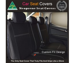 MITSUBISHI PAJERO REAR NEOPRENE WATERPROOF UV TREATED WETSUIT CAR SEAT COVER