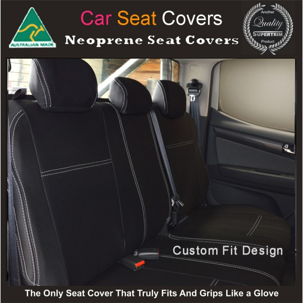 mitsubishi pajero rear neoprene waterproof uv treated wetsuit car seat cover supertrim. Black Bedroom Furniture Sets. Home Design Ideas