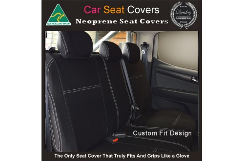 Ford Everest REAR / 2nd Row Seat Covers, Snug Fit, Premium  Neoprene (Automotive-grade) 100% Waterproof