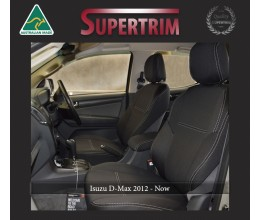 FRONT Seat Covers Snug Fit for Isuzu D-Max (May 2012 - Now), Premium Neoprene (Automotive-Grade) 100% Waterproof