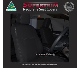 FRONT Seat Covers Full-back with Map Pockets & Rear Snug Fit for Toyota Kluger (Aug 2007 - Feb 2014), Premium Neoprene (Automotive-Grade) 100% Waterproof