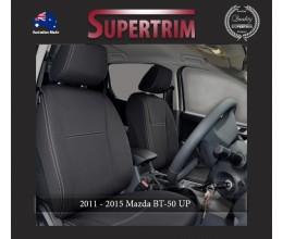 Mazda BT-50 UP (Aug 2011 - Sept 2015) FRONT Seat Covers + CONSOLE LID COVER, Snug Fit, Premium Neoprene (Automotive-Grade) 100% Waterproof