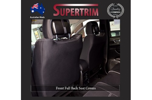 FRONT Seat Covers With Full-back, Snug Fit for Grand Cherokee WK 2011-Now , Premium Neoprene (Automotive-Grade) 100% Waterproof