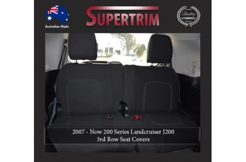 3rd Row Full-Back Seat Covers Snug Fit For (Nov07 - Now) Landcruiser J200 (200 Series) - GX & GXL, Premium Neoprene (Automotive-Grade) 100% Waterproof