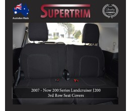 3rd Row Full-Back Seat Covers Snug Fit For (Nov07 - Sept 15) Landcruiser J200 (200 Series) - Sahara, Altitude & VX, Premium Neoprene (Automotive-Grade) 100% Waterproof