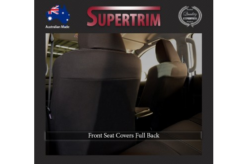 Seat Covers FRONT 2 Bucket Seats With Side Airbags Full Back Snug Fit For Hilux MK.7 Aug 2009 - Aug 2015, Premium Neoprene (Automotive-Grade) 100% Waterproof