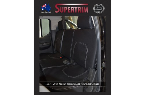 Seat Covers 2nd Row Snug Fit For Nissan Navara D22 (1997 - 2014), Premium Neoprene (Automotive-Grade) 100% Waterproof
