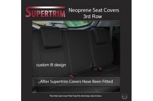 3rd Row Full-Back Seat Covers Snug Fit For Mitsubishi Pajero (2006 - Now), Premium Neoprene (Automotive-Grade) 100% Waterproof