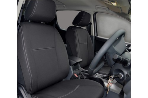 Ford Ranger PX MK.I (Jul 2011 - Aug 2015) FRONT Seat Covers Snug Fit, Premium Neoprene (Automotive-Grade) 100% Waterproof