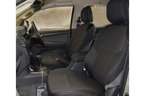 FRONT Seat Covers Snug Fit, for Isuzu D-Max (May 2012 - Now), Premium Neoprene (Automotive-Grade) 100% Waterproof