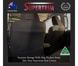 Mitsubishi Pajero Sport Neoprene Custom Car Seat Covers FRONT full-back map pockets