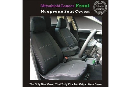 TOP MITSUBISHI LANCER FRONT PAIR OF WATERPROOF CAR SEAT COVERS WITH SEPARATE HEADREST COVERS