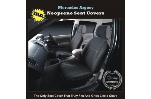 MERCEDES CORONADO / ARGOSY FRONT WATERPROOF CAR SEAT COVERS - 100% FIT OR MONEY BACK!