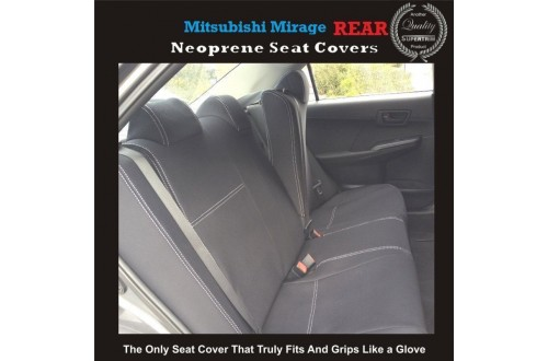 MITSUBISHI MIRAGE REAR NEOPRENE WATERPROOF UV TREATED WETSUIT CAR SEAT COVER