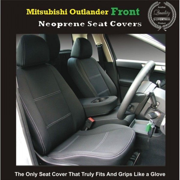TOP MITSUBISHI OUTLANDER FRONT PAIR OF WATERPROOF CAR SEAT COVERS WITH SEPARATE HEADREST