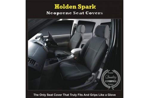 HOLDEN SPARK WATERPROOF UV TREATED FRONT PAIR OF SEAT COVERS WITH SEPARATE HEADRESTS