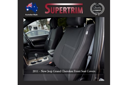 FRONT Seat Covers, Snug Fit for Grand Cherokee WK 2011 - Now, Premium Neoprene (Automotive-Grade) 100% Waterproof