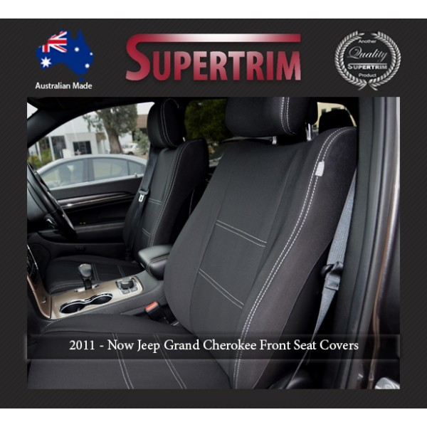 FRONT Seat Covers, Snug Fit For Grand Cherokee WK 2011   Now, Premium  Neoprene (Automotive Grade) 100% Waterproof